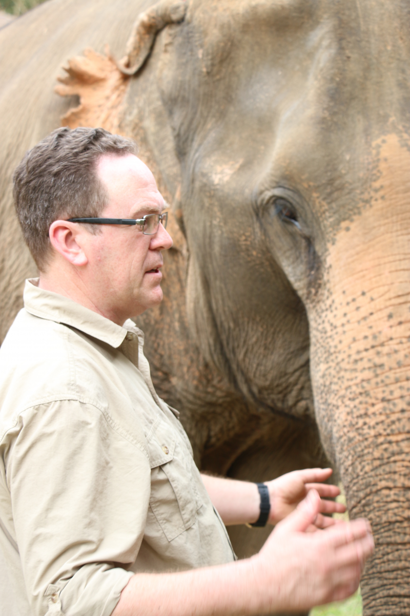 Tony Nevin with elephant